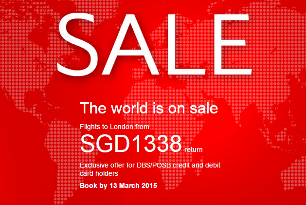World on sale - Exclusive promotion for DBS/POSB credit and debit card holders