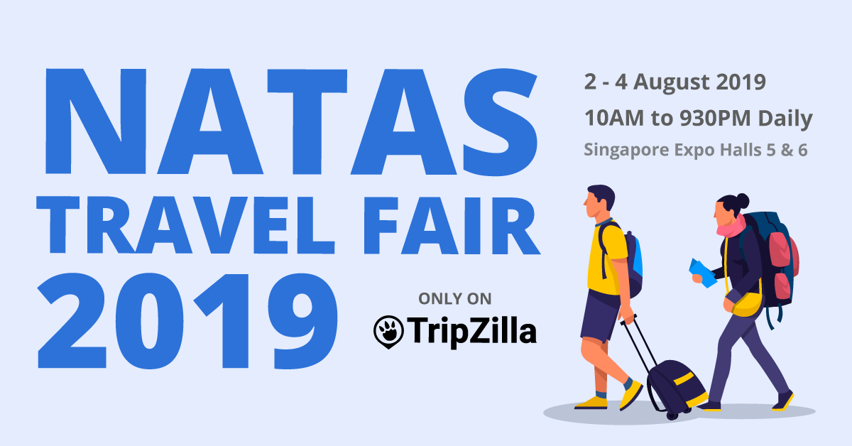 NATAS Travel Fair August 2019 at Singapore Expo Halls 5 & 6 (02– 04